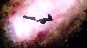 pinkish nebula from deep in Klingon space.